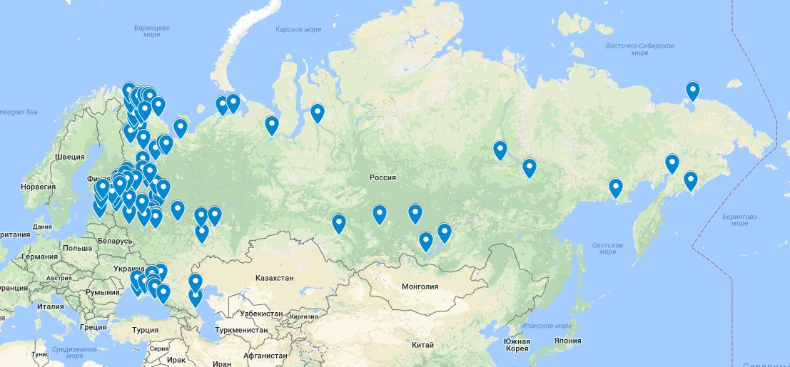 География работ Первой Водолазной Службы Санкт-Петербург